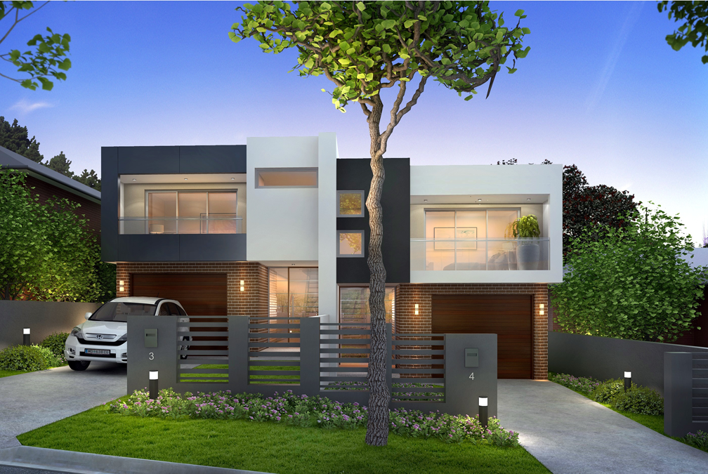 Contemporary duplex house plans joy studio design for Best home designs nsw